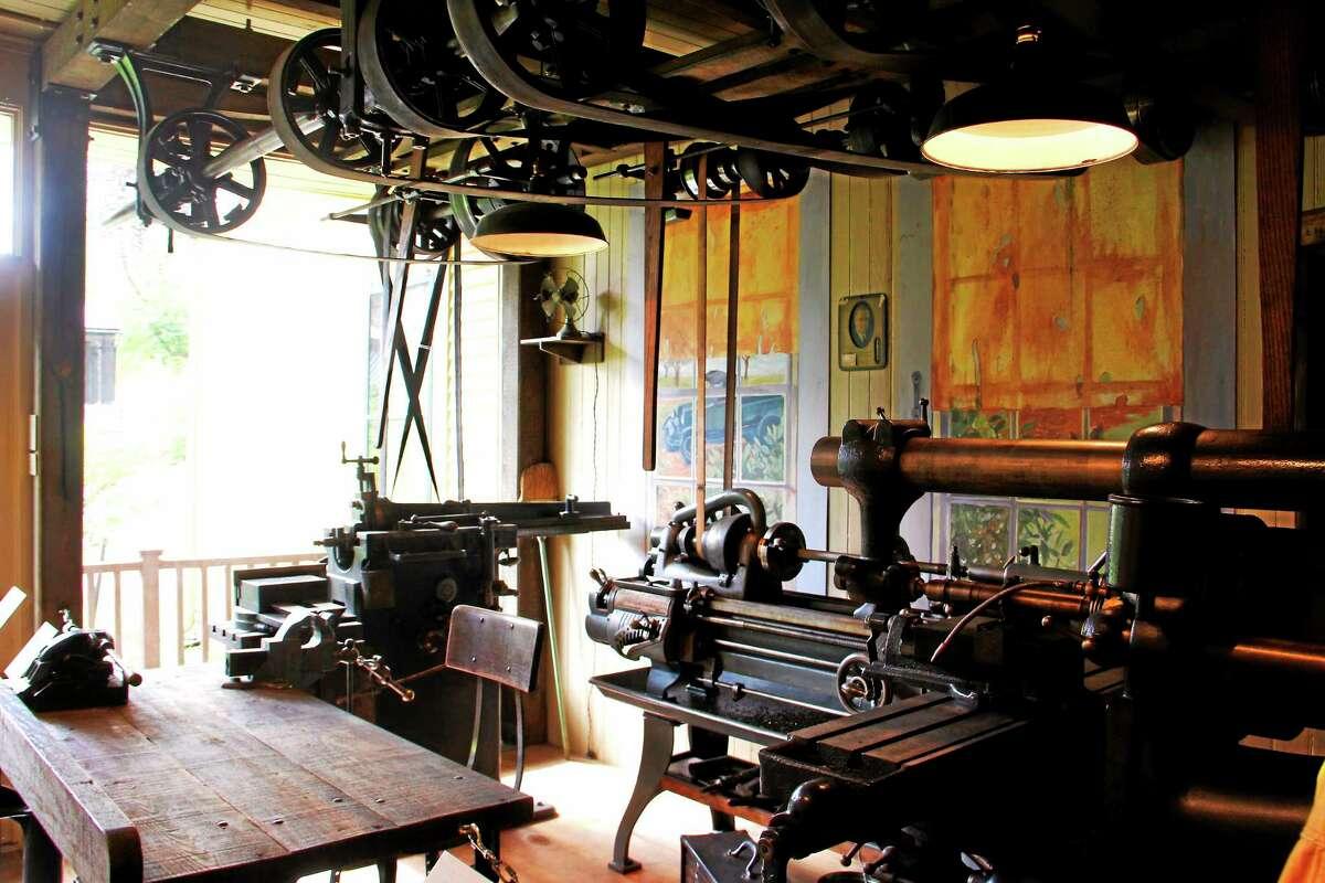 The Hendey Machine Shop exhibit at the Torrington Historical Society.