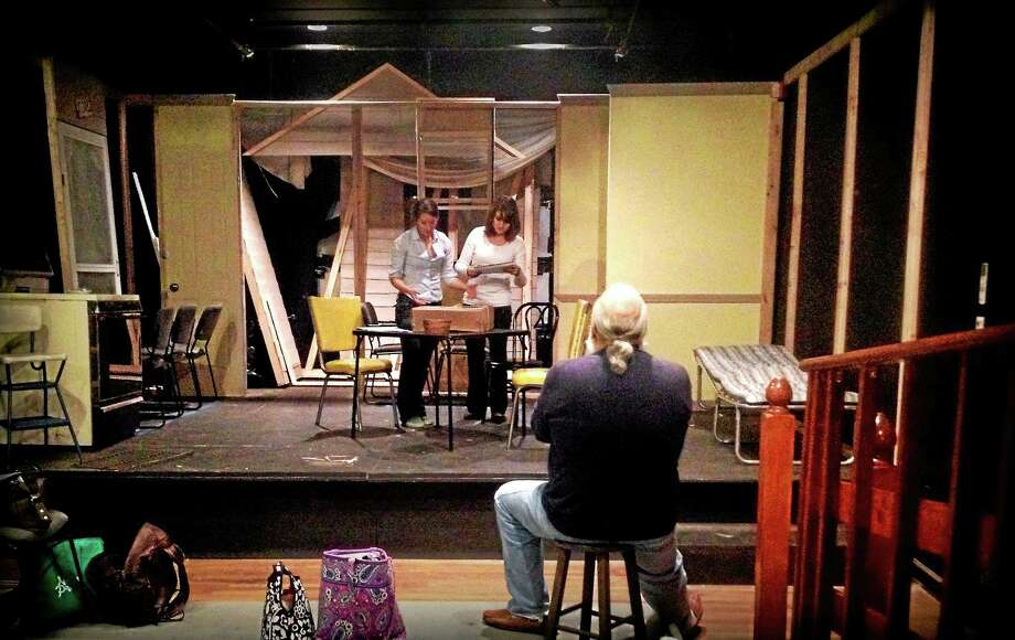 "Actors rehearse a scene for ""Crimes of the Heart"" at the Thomaston Opera House. The play, staged by the Backyard Theatre Ensemble, opens Nov. 6. Photo: Photo Courtesy Of Backyard Theatre Ensemble"