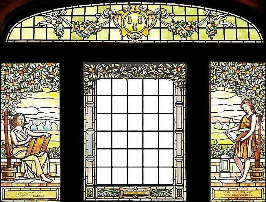 J&R Lamb Studios' stained glass window will be the topic of a program at the Gunn Memorial Library in November. Photo: Submitted Photo