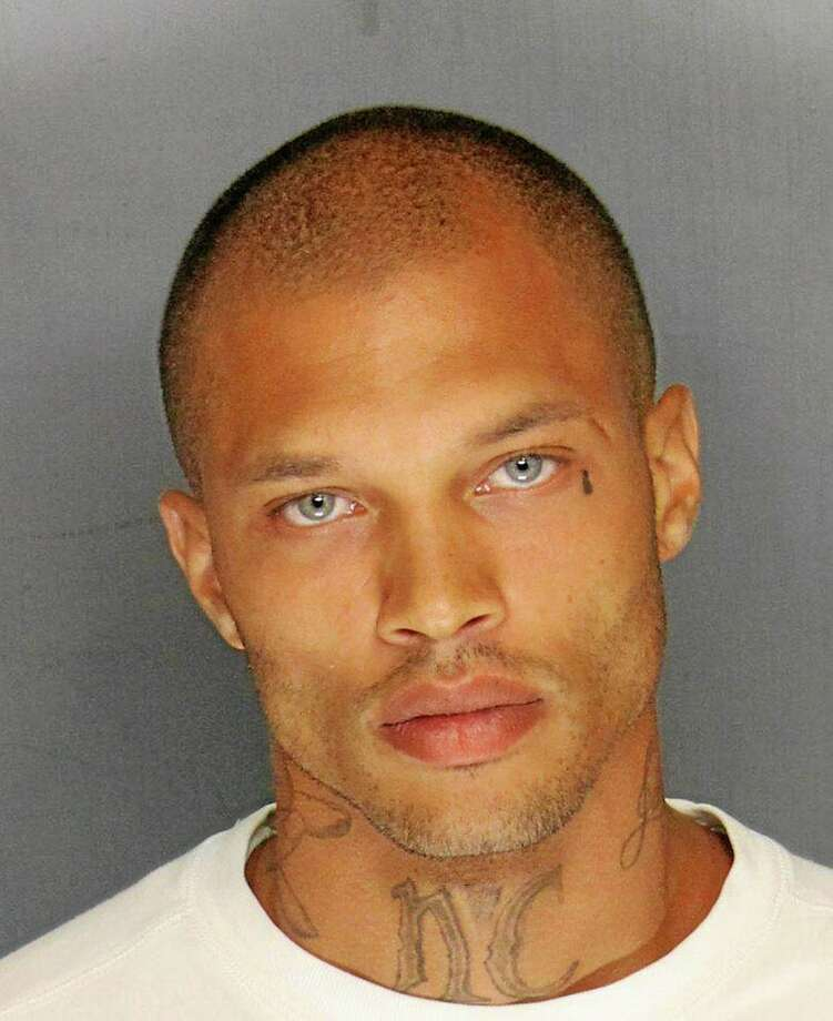 In this Wednesday, June 18, 2014, booking photo released by the Stockton Police Department is Jeremy Meeks. Meeks, 30, was one of four men arrested Wednesday in raids in Stockton, Calif.. On Thursday, his mugshot had more than 20,000 likes, nearly 6,000 comments, and had been shared more than 1,400 times on Facebook. (AP Photo/Stockton Police Department) Photo: AP / Stockton Police Dept.