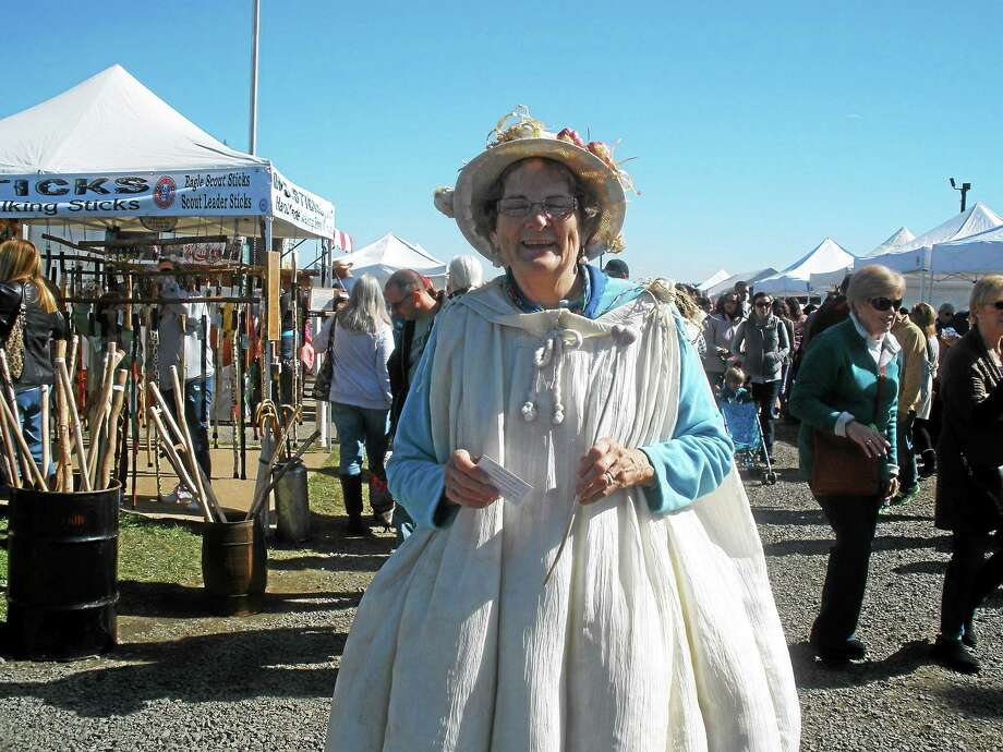 Photo by Stephen Underwood Ruth Avitable of Bethlehem, whose husband Al co-founded the Garlic Festival, wore her best galic costume at the event Sunday, Oct. 12 at the Bethlehem Fairgrounds. Photo: Journal Register Co.