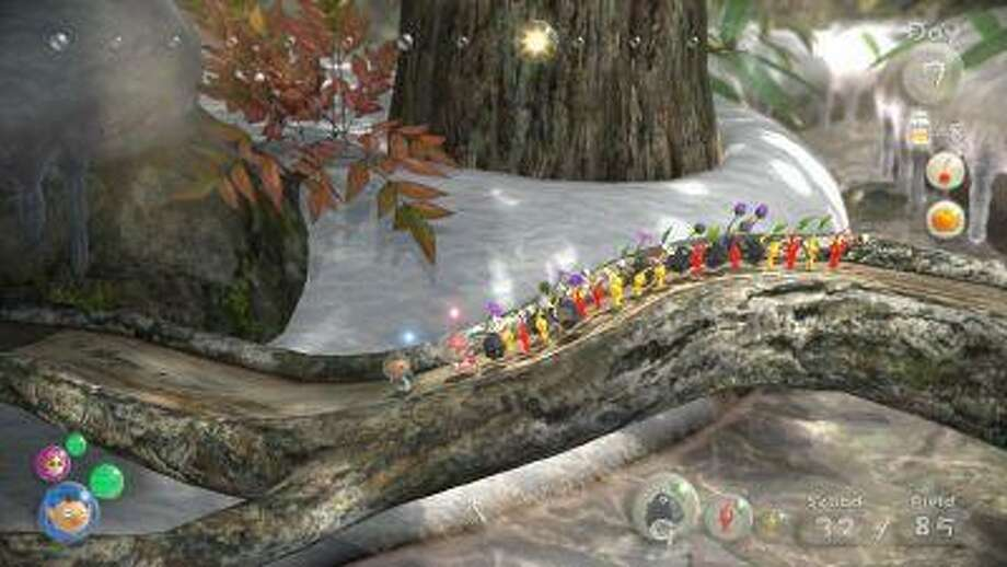 "In ""Pikmin 3,"" players control three Koppai explorers -- Alph, Brittany and Charlie -- as they venture with their Pikmin on an uncharted planet. (Courtesy of Nintendo) Photo: Courtesy Of Nintendo / Courtesy of Nintendo"