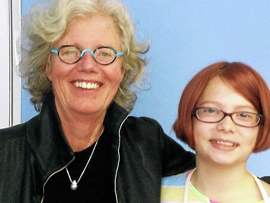 WNPR's Faith Middleton with Chelsea Thursday morning. Photo: Journal Register Co.