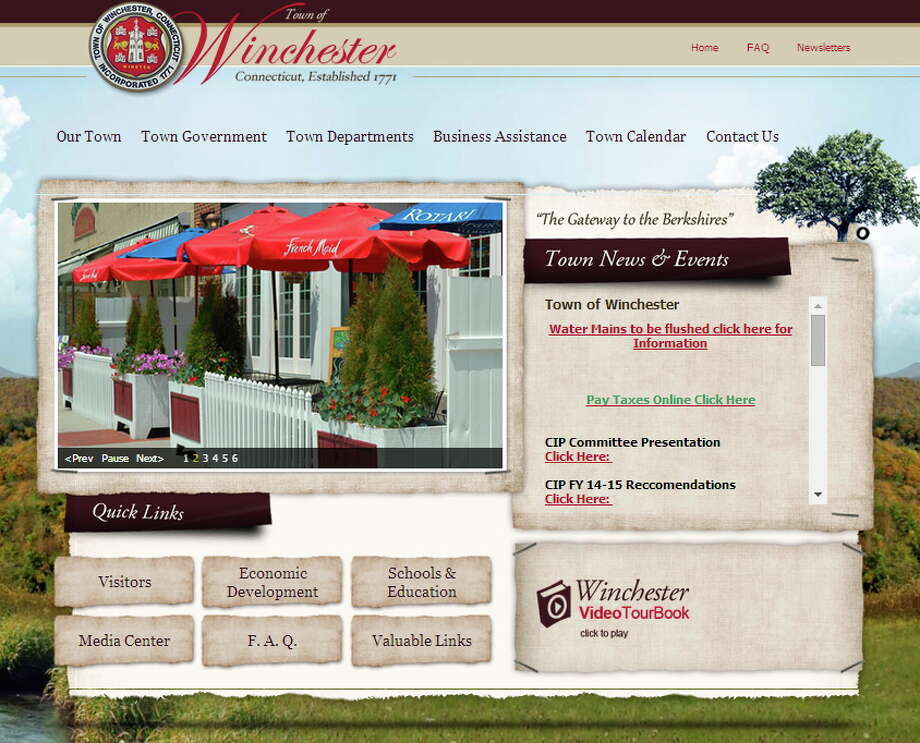 A screenshot of the town website. Photo: Journal Register Co.