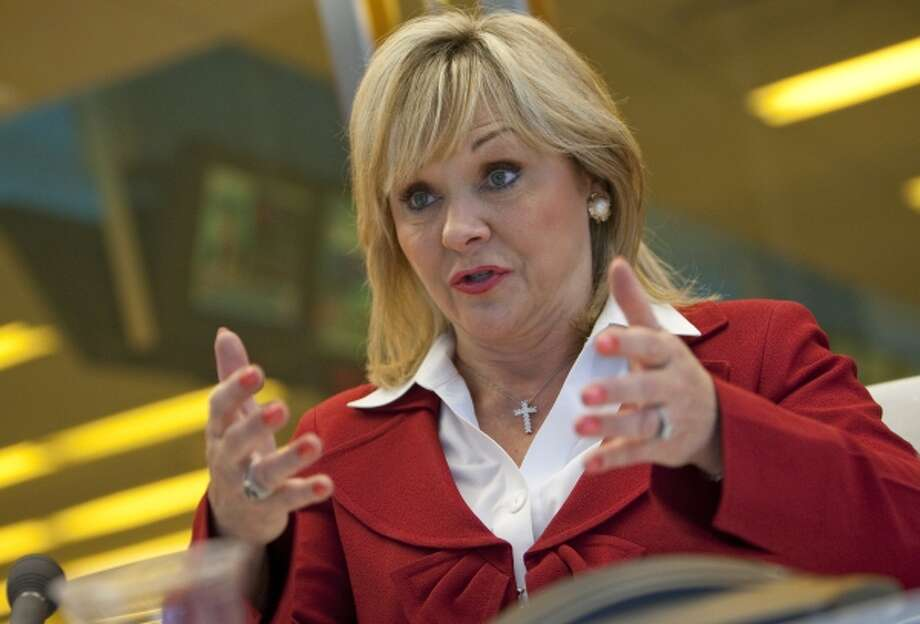 """My goal has been to grow the economy so that we will have more money to put towards important priorities of the state, and education is one of our top priorities,"" said Oklahoma Republican Gov. Mary Fallin, seen here in a 2011 interview in New York. Oklahoma is one of 34 states spending less per pupil in kindergarten through 12th grade this year than six years ago, when adjusted for inflation, according to the Washington-based Center on Budget & Policy Priorities. Photo: BLOOMBERG NEWS / BLOOMBERG NEWS"