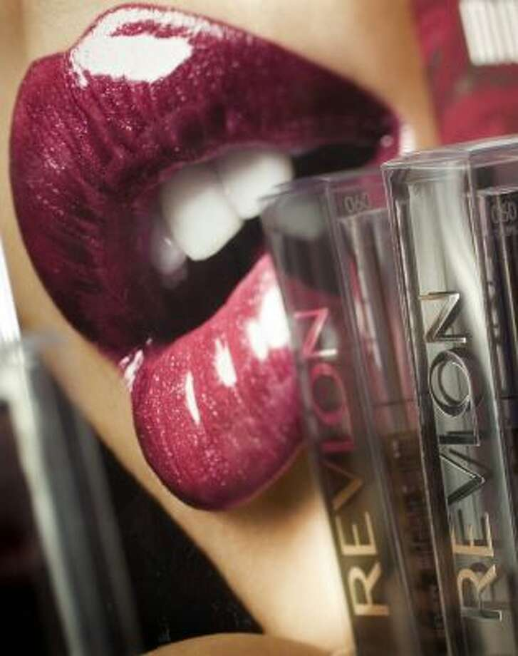 Revlon lipstick on display at a New York pharmacy.