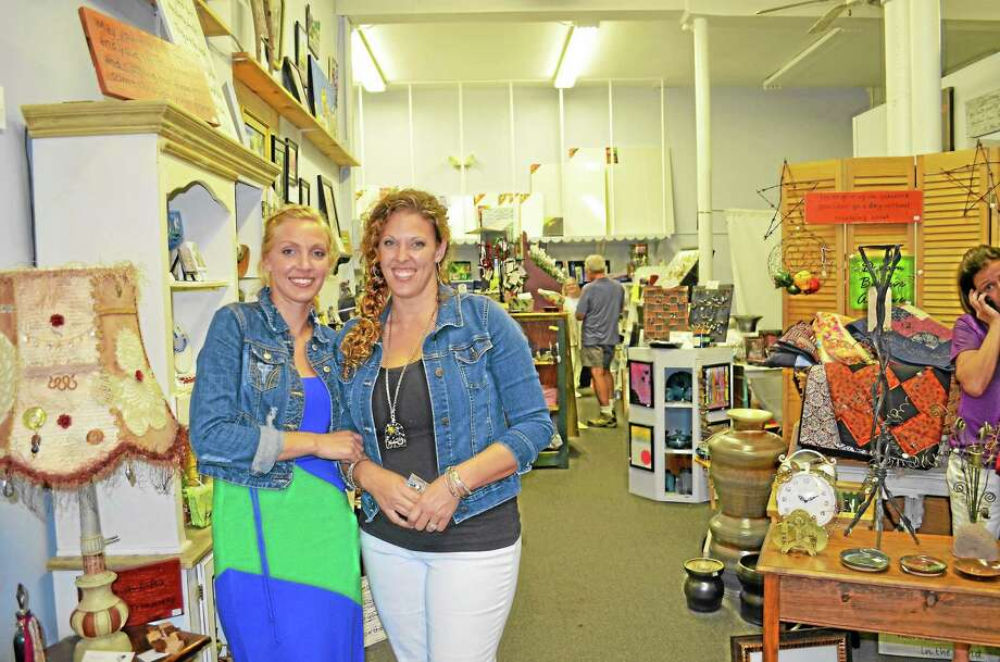 Owners and sisters Lisa Stepler and Jessica Washington celebrated their first year in business with a celebration Saturday night. Photo: Kate Hartman—Register Citizen