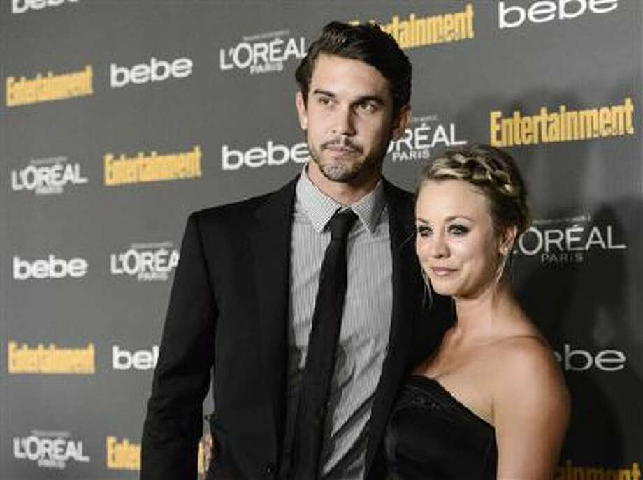 This Sept. 20, 2013 file photo shows actress Kaley Cuoco, right, and Ryan Sweeting at the 2013 Entertainment Weekly Pre-Emmy Party in Los Angeles. Photo: Dan Steinberg/Invision/AP / Invision