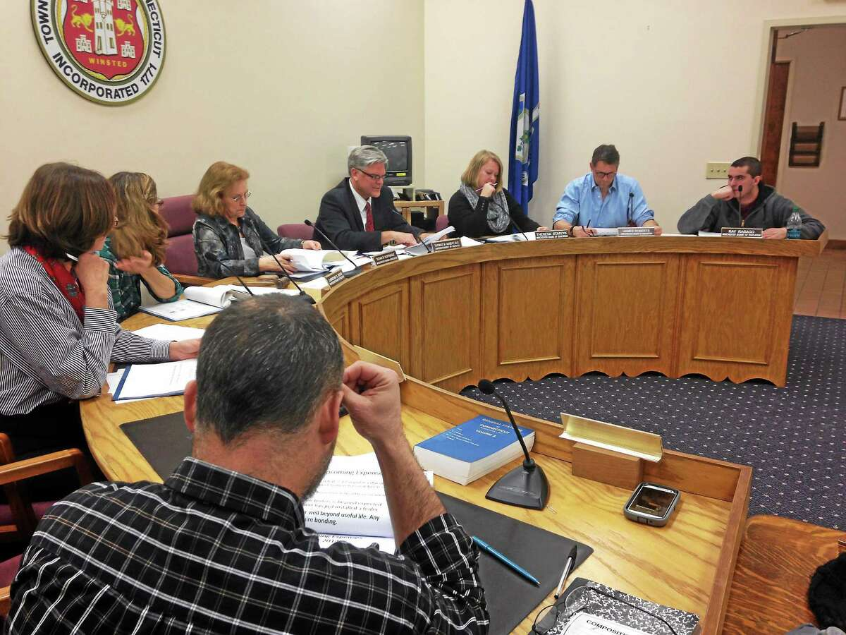 Winchester's Board of Education pictured during its Jan. 14 meeting