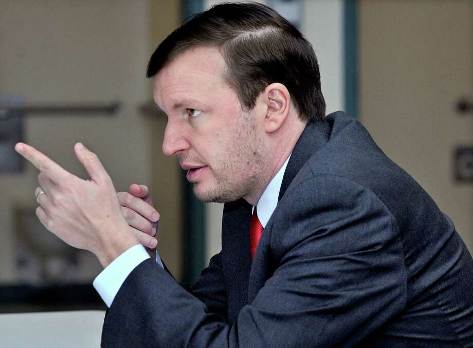 U.S. Sen. Chris Murphy speaks at the Connecticut Juvenile Training School in Middletown Monday afternoon. Catherine Avalone - The Middletown Press Photo: Journal Register Co. / TheMiddletownPress