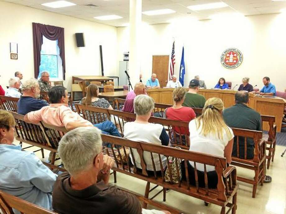Board of Selectmen public hearing for the charter revision suggestion to dismantle the Water and Sewer Commission
