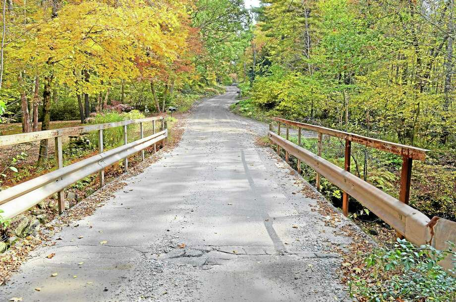 A rural bridge on Shingle Mill Road in Harwinton will be replaced through Federal Bridge Program. Photo: Kate Hartman — Register Citizen