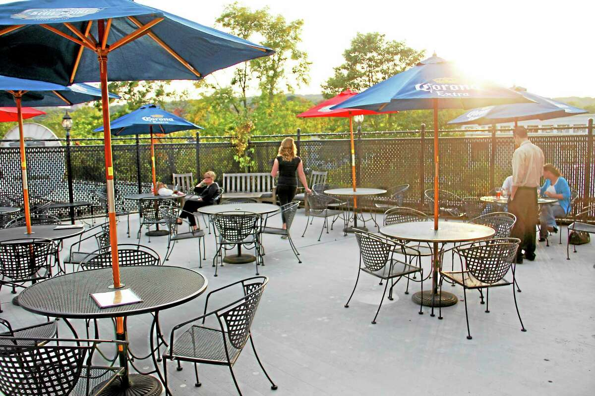 The rooftop patio at the Downtown Café on Friday, Oct. 4.