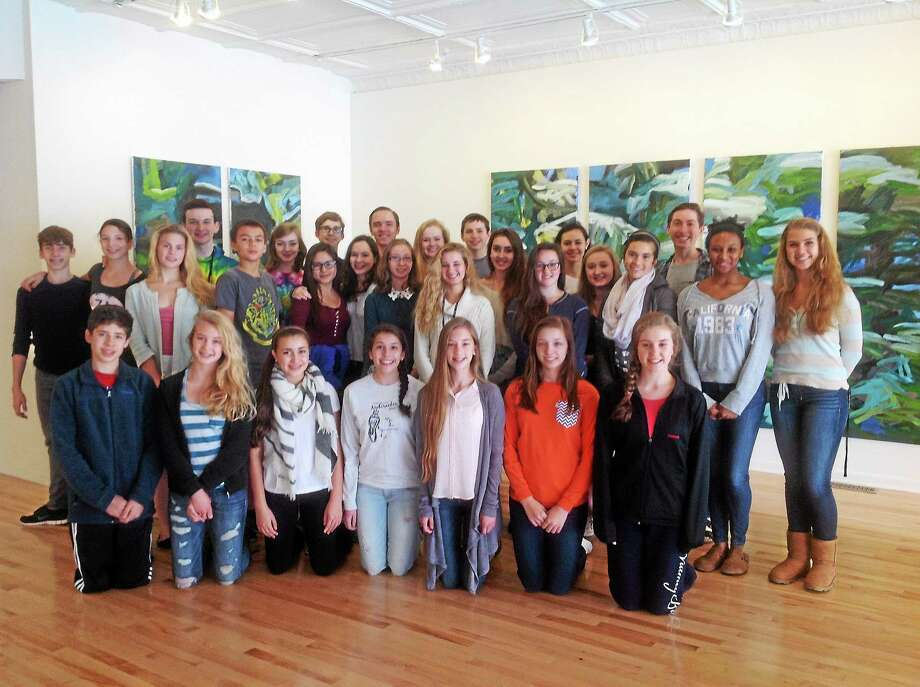 Submitted photo  The Nutmeg Ballet students visit the Five Points Gallery on Torringtonís Main Street. Photo: Journal Register Co.