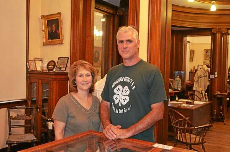 Mike and Cindy Orefice are two of the board of directors who take turns caring for the museum. (Kate Hartman - Register Citizen)