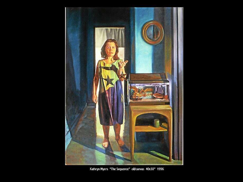Image courtesy of the artist Kathryn Myers, The Sequence, Oil on Canvas, 40 x 30î, 1996. Photo: Journal Register Co.