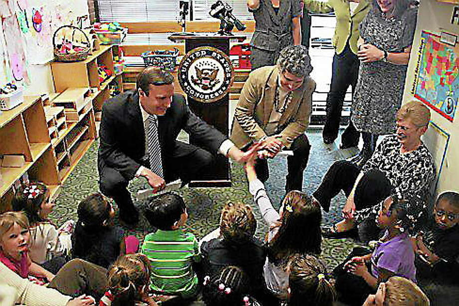 U.S. Rep. Chris Murphy and Sen. Beth Bye at a day care center last year. Michael Lee-Murphy/CT NewsJunkie file photo Photo: Journal Register Co.
