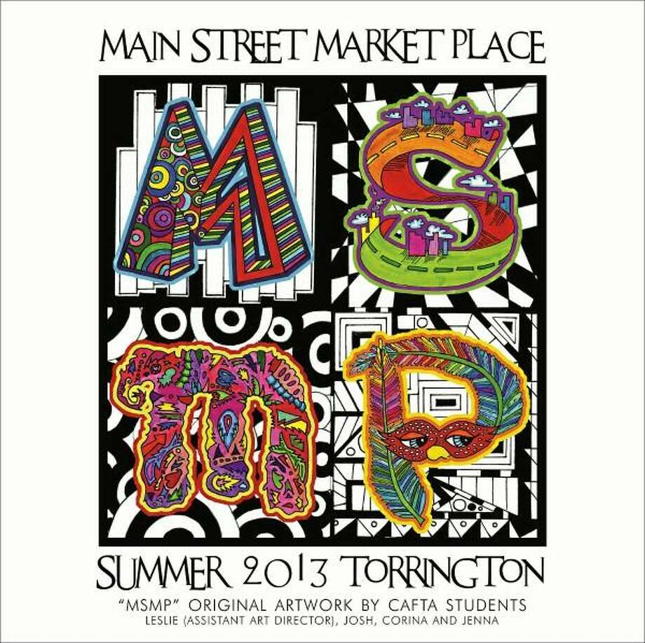 The Torrington Main Street Marketplace banner designed by Connecticut Academy for the Arts (CAFTA) students which will be hung along Main Street this week. (Contributed photo)
