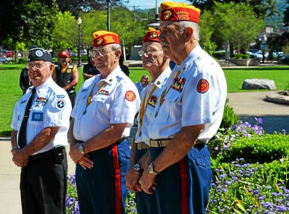 Kate Hartman-Register Citizen - Korean War veterans gathered in Torrington's Coe Memorial Park to celebrate the 60th anniversary of the armistice.