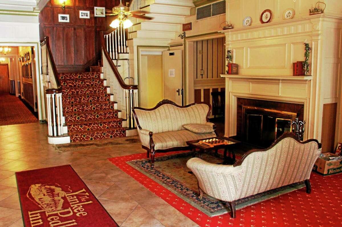 Inside the lobby of the Yankee Pedlar as seen Aug. 18.