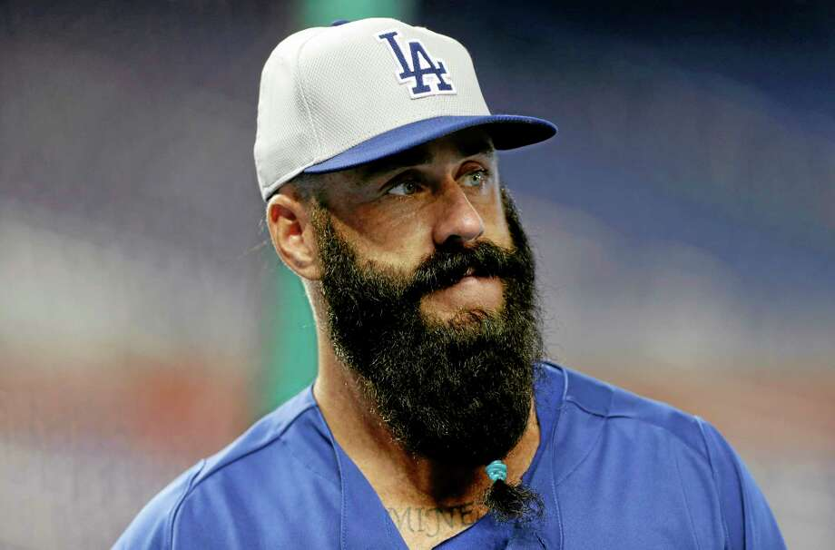 Los Angeles Dodgers relief pitcher Brian Wilson and many others will be sporting bountiful beards in this year's baseball playoffs. Photo: Lynne Sladky — The Associated Press  / AP