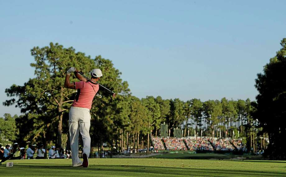 Martin Kaymer watches his tee shot on the 17th hole during the third round of the U.S. Open Saturday in Pinehurst, North Carolina. Photo: Chuck Burton — The Associated Press  / AP