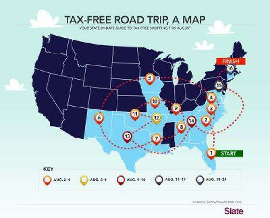 A state-by-state guide to evading the sales tax this summer. Photo: SLATE / SLATE