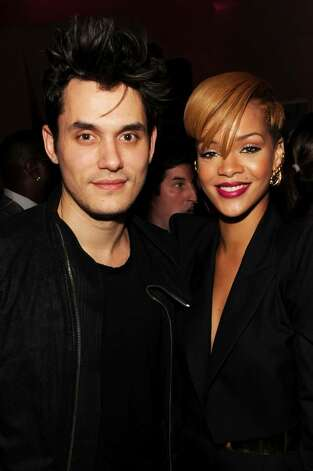 NEW YORK - DECEMBER 08:  Musician John Mayer (L) and singer Rihanna attend  the launch of VEVO, the world's premiere destination for premium music video and entertainmentat Skylight Studio on December 8, 2009 in New York City.  (Photo by Theo Wargo/Getty Images for VEVO) *** Local Caption *** John Mayer;Rihanna Photo: Theo Wargo, Getty Images For VEVO / 2009 Getty Images