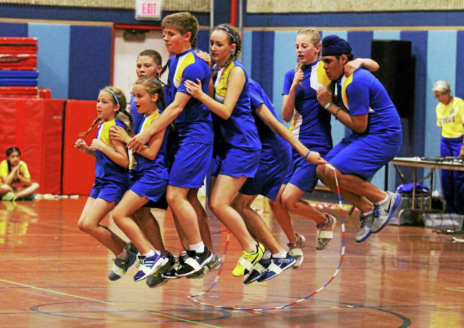 The Forbes Flyers Jump Rope Team held its end of the year show at Forbes school.  Marianne Killackey - Special to The Register Citizen Photo: Journal Register Co. / 2013