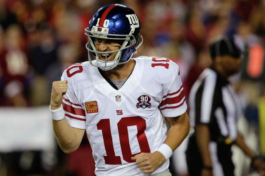 Eli Manning and the Giants face the Falcons on Sunday looking to pick up their third straight victory. Photo: The Associated Press  / FR170908 AP