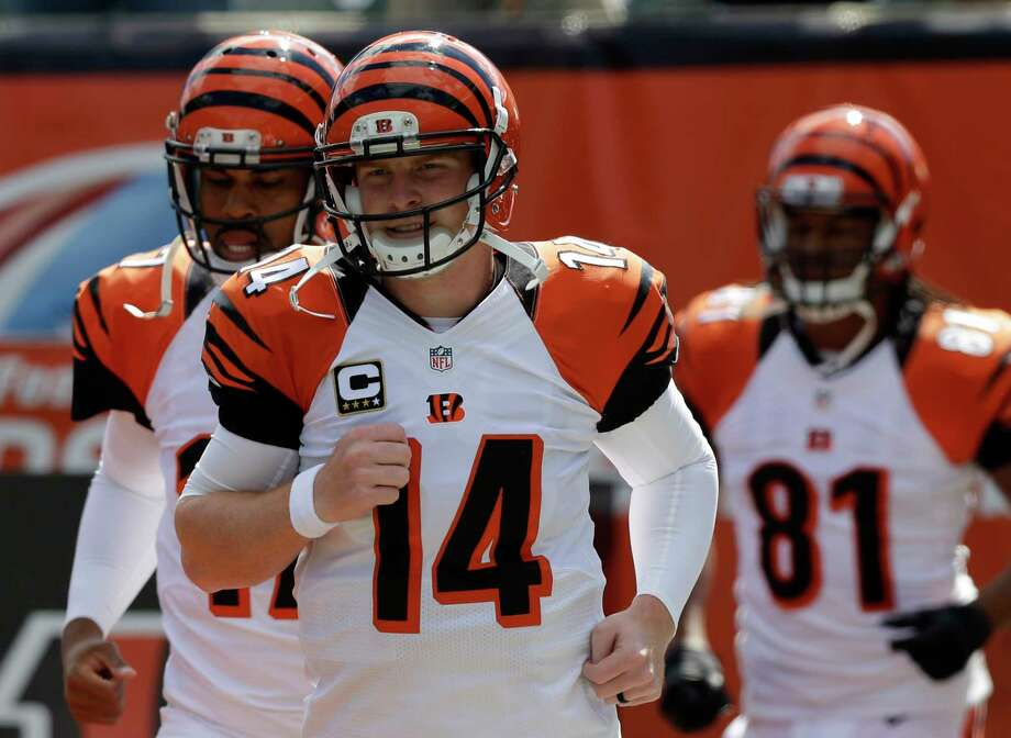 Andy Dalton and the unbeaten Cincinnati Bengals head into Foxborough to face the Patriots. Photo: The Associated Press File Photo  / AP