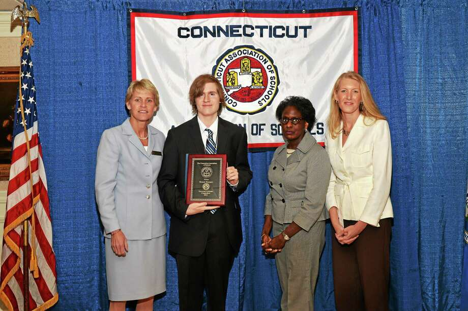 Ernest Tremper receives his award. Photo: Submitted Photo