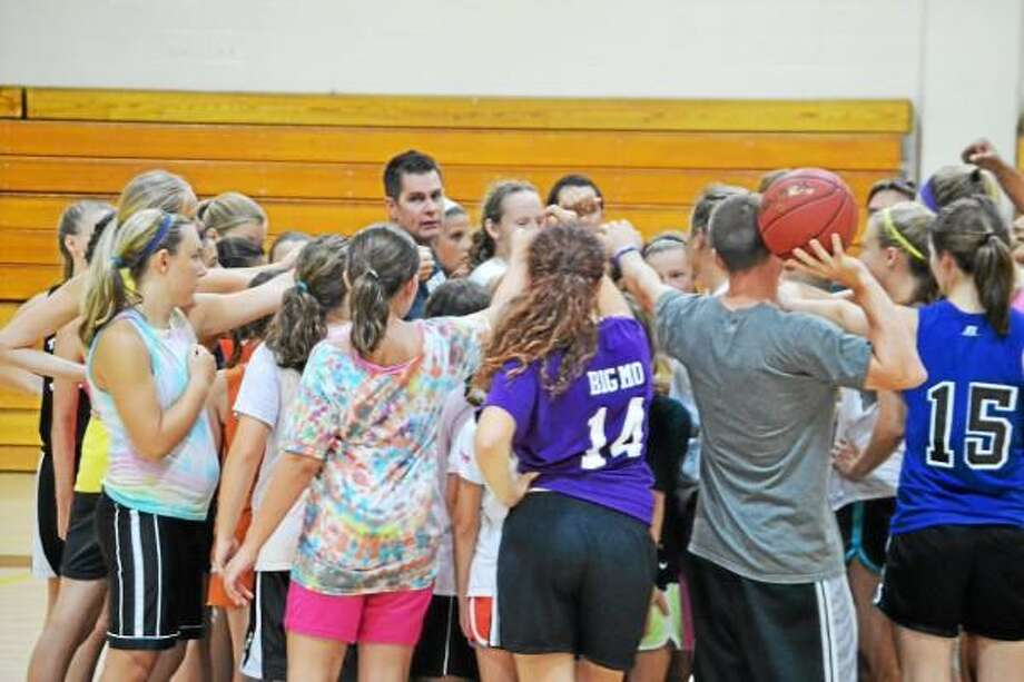 Pete Paguaga Register Citizen  Thomaston's head coach Bob McMahon breaks down the camp, with all the campers after a week of hard work.