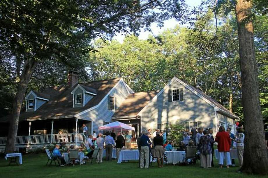 The residence of Elinor Carbone on Friday, July 26, during a small gathering and fundraiser for her campaign to run for mayor of Torrington. (Esteban L. Hernandez-Register Citizen)