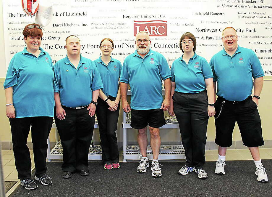 The LARC Special Olympics team and coach (from left to right) Jennifer Mclellan, Jamie Louchen, Ellen Kirsch, Bart Cole, Rebecca Lamoin, and Travis Stolle before they head down to Princeton for the National games. Photo: Submitted Photo