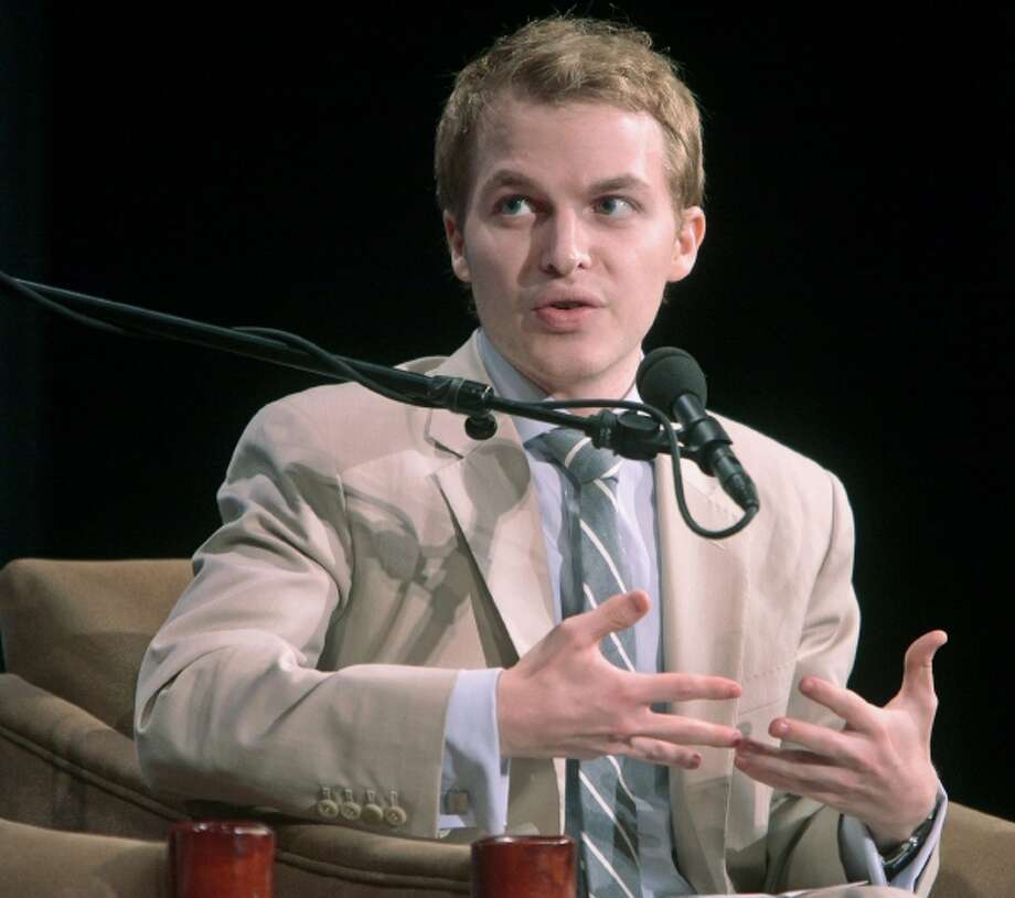 In this photo released by the United Nations Foundation, Ronan Farrow, Special Adviser to the Secretary of State for Global Youth Issues, speaks during the Social Good Summit, Thursday, Sept. 22, 2011 in New York. Farrow is the son of actress Mia Farrow and director Woody Allen. (AP Photo/United Nations Foundation, Gary He Photo: AP / AP2011