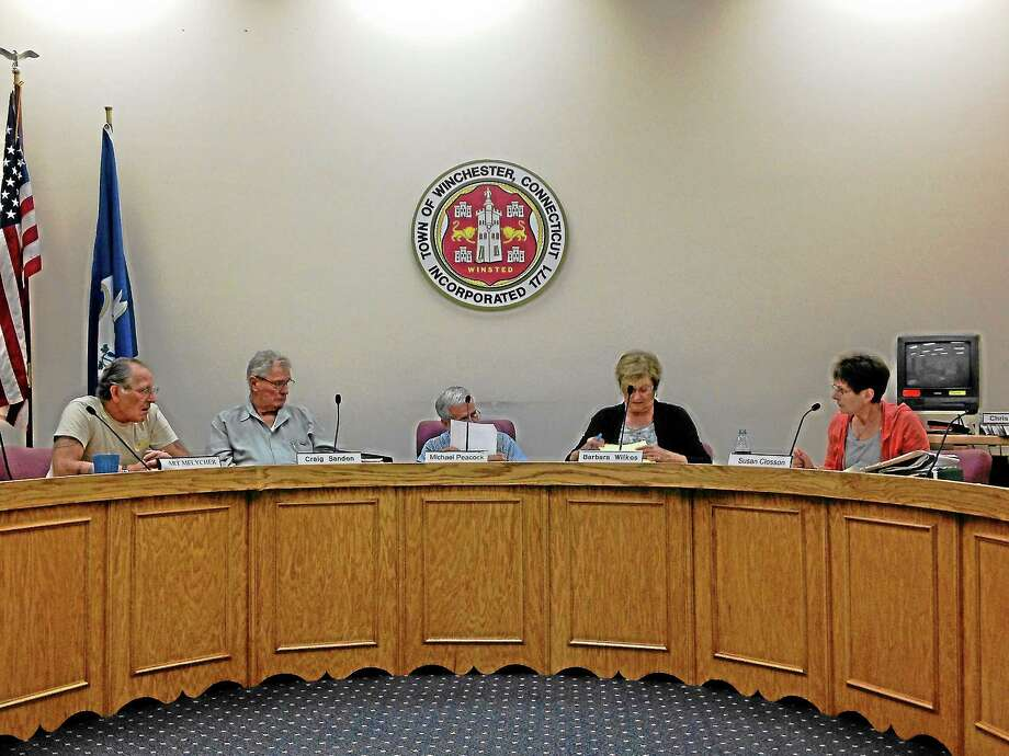 Winsted's Planning and Zoning Commission during an August meeting. Photo: Register Citizen File Photo