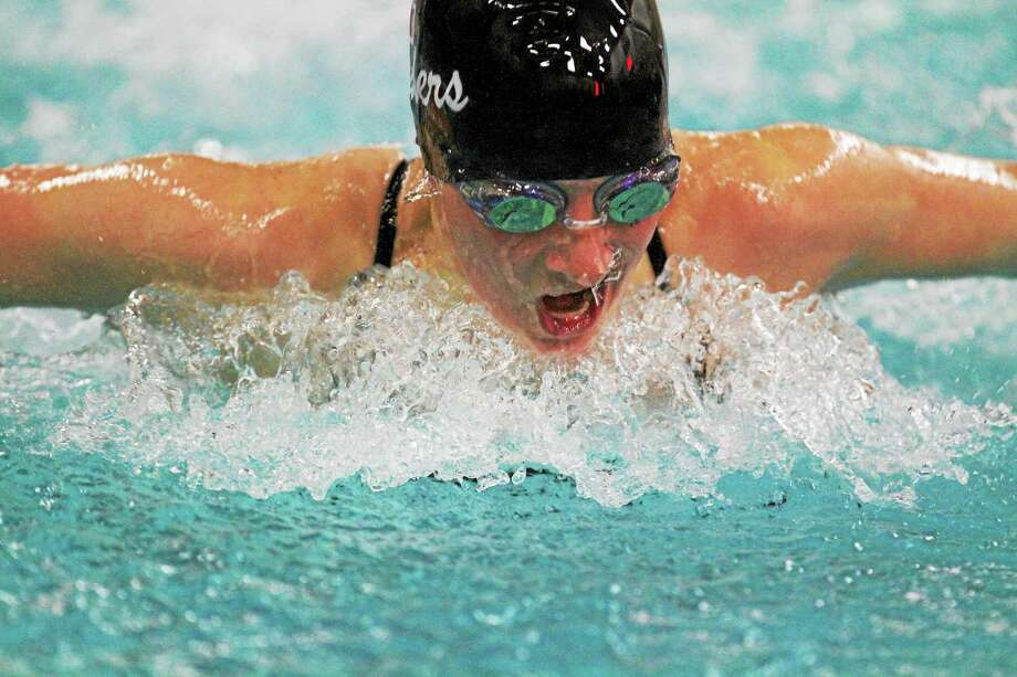 Torringtonís Payton Welch swims the 200 yard Individual Medley Friday night. Photo: Marianne Killackey — Special To Register Citizen  / 2014