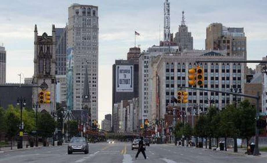 Downtown Detroit is seen looking south along Woodward Avenue in Detroit, Michigan July 21, 2013. Photo: REUTERS / X00064
