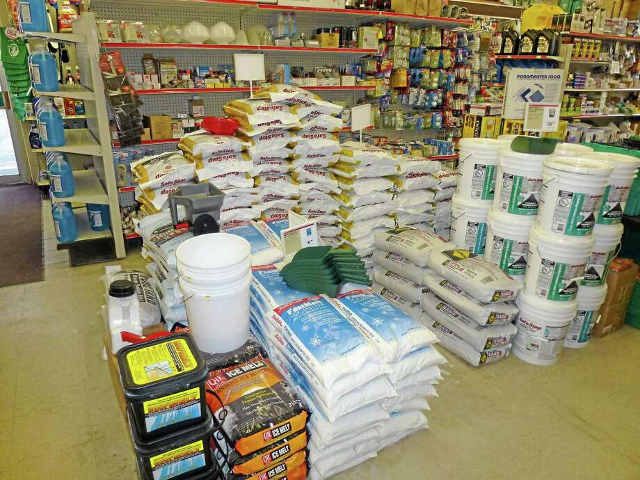 Carl's True Value in Torrington was fully stocked and ready for business in February 2012 as forecasts called for up to two feet of snow in the city. Photo: Register Citizen File Photo
