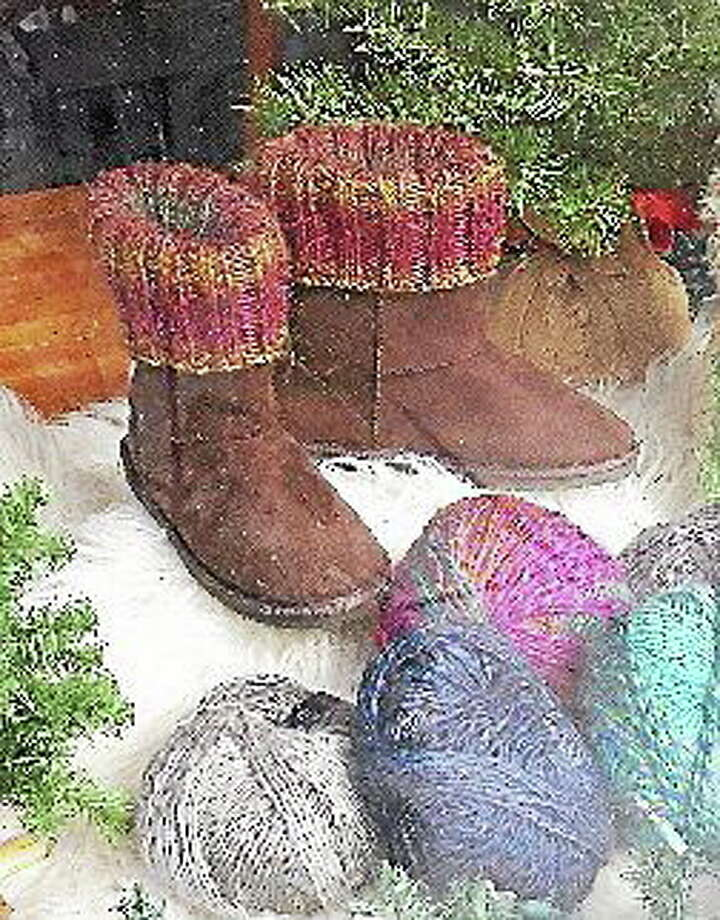 Submitted photo - Ginger Balch Boots are warmer with cozy trim. Using the best materials for fiber projects promises long-lasting, quality work. Photo: Journal Register Co.