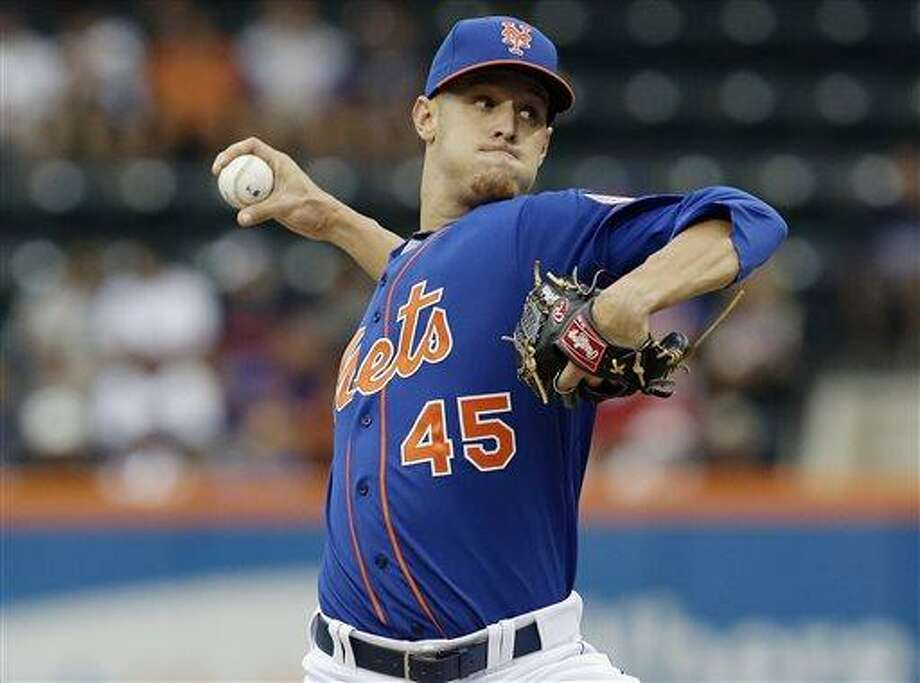 New York Mets' Zack Wheeler delivers a pitch during the first inning of a baseball game against the Atlanta Braves Thursday, July 25, 2013, in New York. (AP Photo/Frank Franklin II) Photo: AP / AP