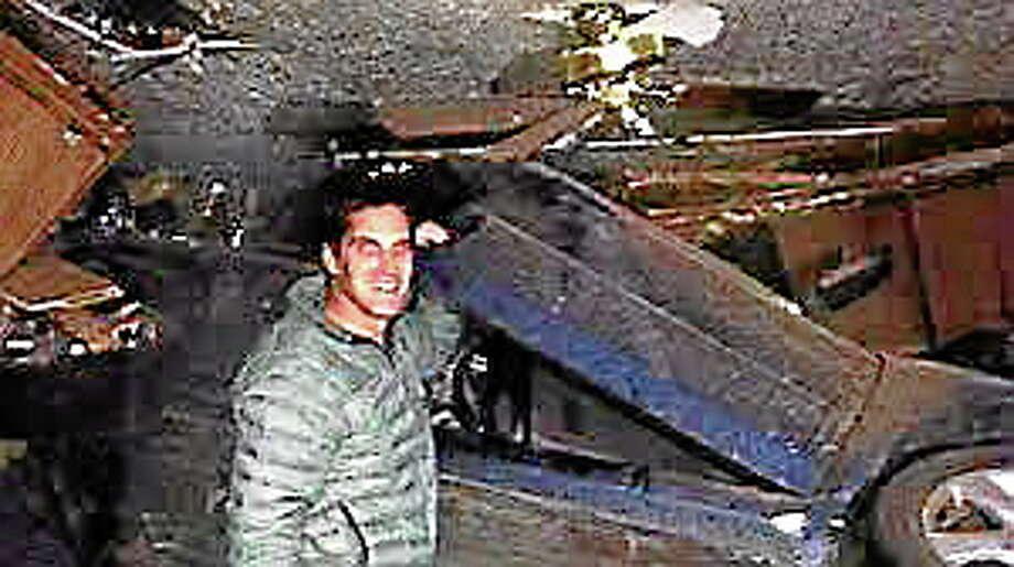 Josh Romney's Twitter screen shot at scene of accident. Photo: Journal Register Co.