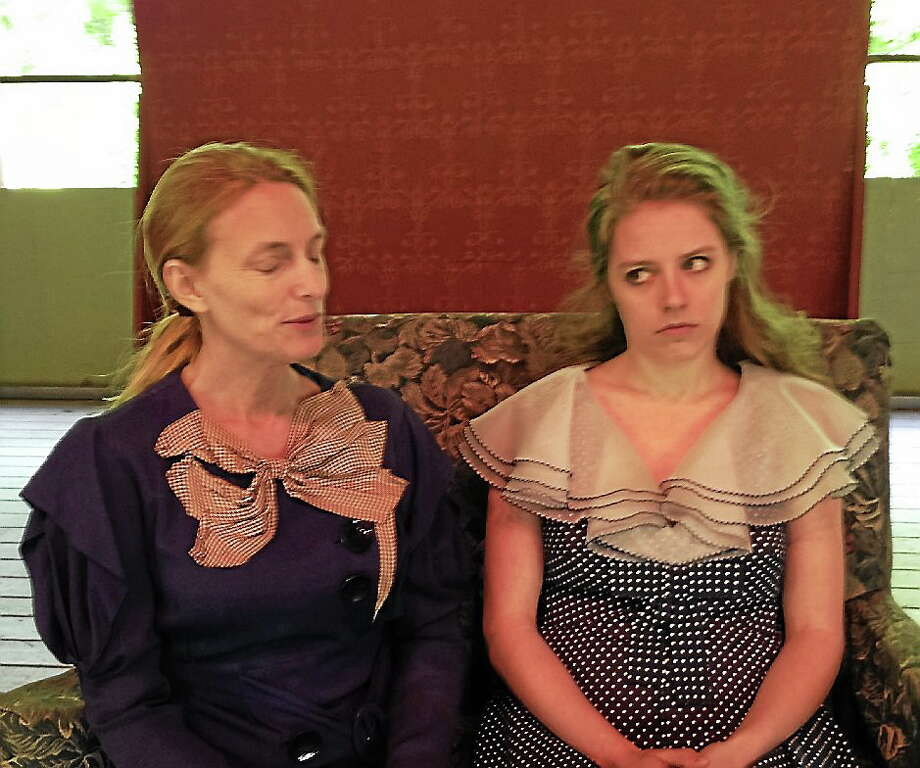 """Clay & Wattles Theater Company at The Gary-The Olivia Theater.  Featured actors in Horton Foote's play """"Blind Date"""" are from left, Kelly Mehiel, playing the role of Dolores Henry and NY based actor Victoria Teague playing the role of Sarah Nancy. Photo: Journal Register Co."""