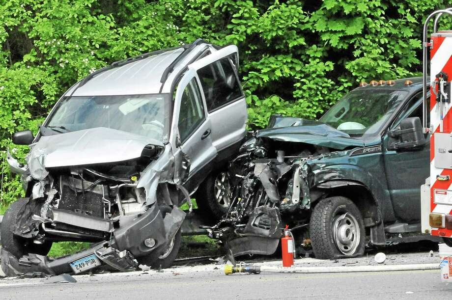 Two buses and three other vehicles were involved in a crash on Winsted Rd. in Torrington Tuesday. Several children were taken to the hospital as a precaution, but officials at the scene said none were seriously injured. Laurie Gaboardi - The Register Citizen Photo: Journal Register Co.