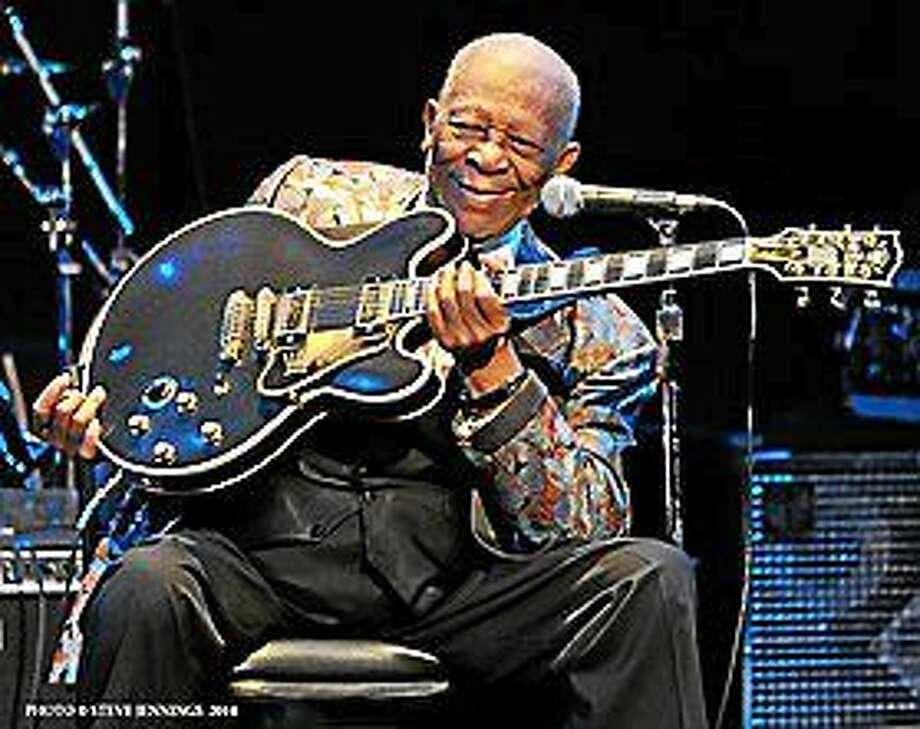 Photo courtesy of B.B. King B.B. King brings his unmistakable style to the Warner Theatre Oct. 8. Photo: Journal Register Co.