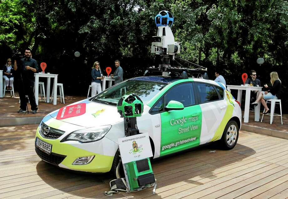 Google car is presented to the media in Athens on Thursday, June 5, 2014. Google has launched its Street View map service in Greece after winning approval from the privacy authority that blocked the ground-level map application five years ago. Photo: AP Photo/Thanassis Stavrakis  / AP