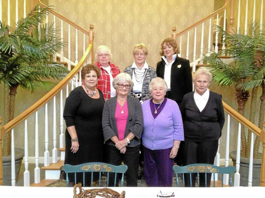 The Charlotte Hungerford Hospital Auxiliary Officers gathered at the 28th annual luncheon and fashion show in 2012. The event is held annually to raise money to fund scholarships, which are given to area students entering the health field. Photo: Register Citizen File Photo