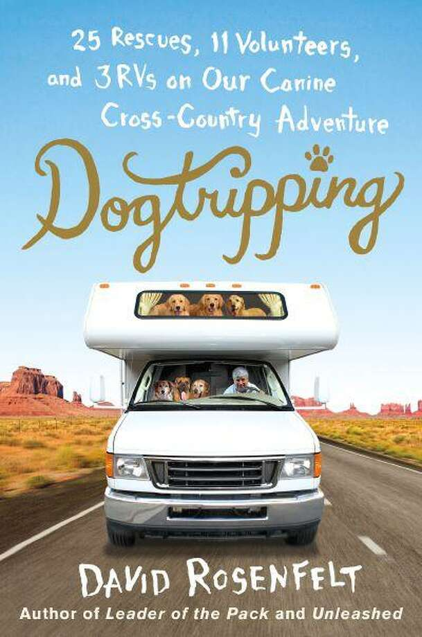 """This book cover image released by St. Martin's Press shows """"Dogtripping: 25 Rescues, 11 Volunteers and 3 RVs on Our Canine Cross-Country Adventure,"""" by David Rosenfelt. (AP Photo/St. Martin's Press) Photo: AP / St. Martin's Press"""