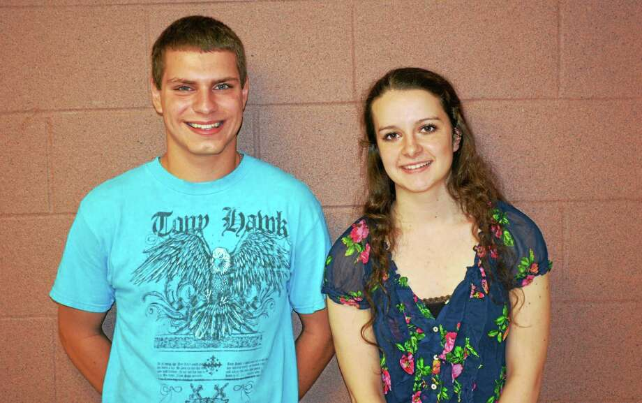 Roger Aiudi and Selena West are the Gilbert School's valedictorian and salutatorian. Photo: Ryan Flynn — The Register Citizen